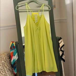 NWT Neon Yellow Dress